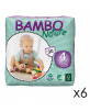 180 Couches Eco. Bambou Nature T.4 - 7-18kg - 6x30