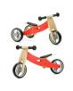 Bici s/pedales evol. 2en1 MADERA Rojo - 18m+