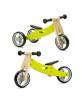 Bici s/pedales evol. 2en1 MADERA Verde - 18 m +