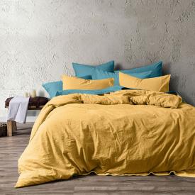 Tríptico Algodón lavado Amarillo - 240x220cm